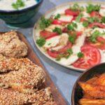 Kyllingelår med sesam og hjemmelavet dressing