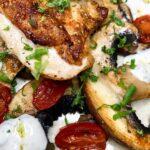Sprød kylling i ovn med grønt