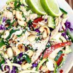 Asiatisk salat med kylling og squashnudler