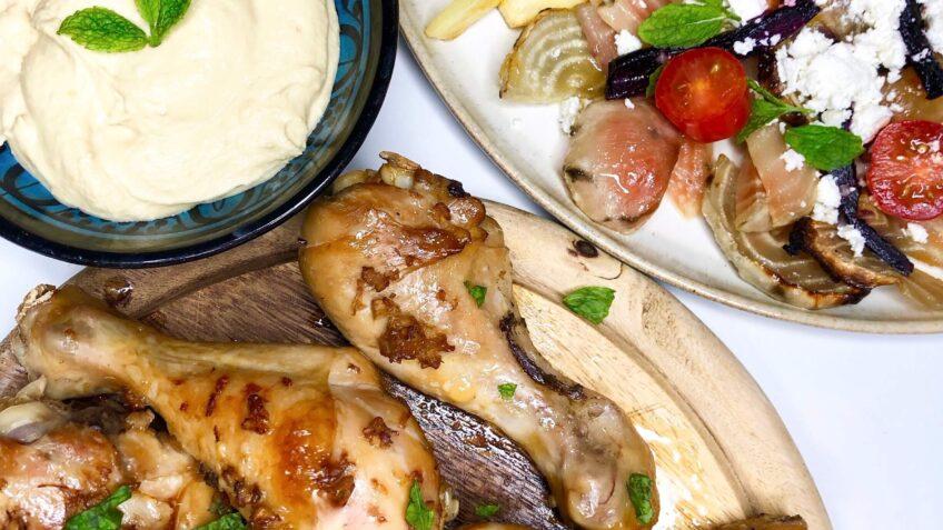 Soya-marinerede kyllingelår i ovn