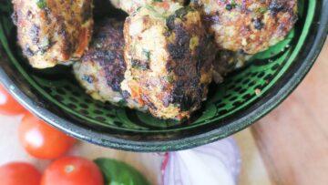 Græske kyllingefrikadeller