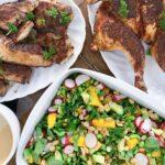 Grillet kylling med asiatisk salat