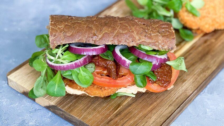Sandwich med vegetariske schnitzler