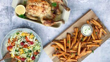 Bagt kylling med hvidløg og persille