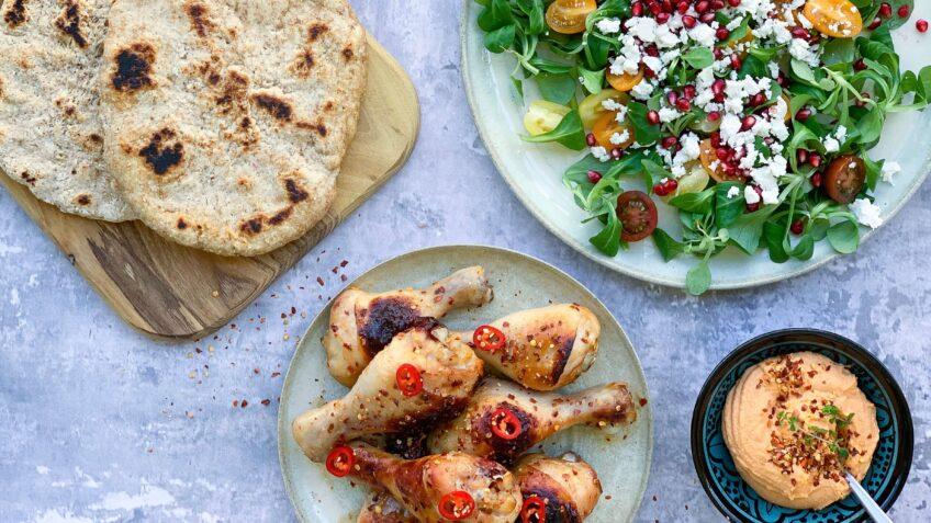 Kyllingelår med honning og chili