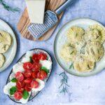 ravioli med svampe og kylling